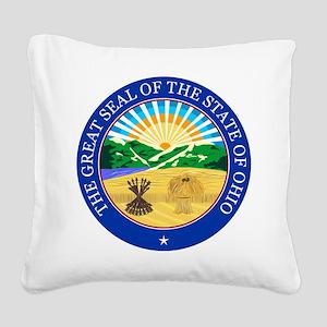 Ohio Seal Square Canvas Pillow
