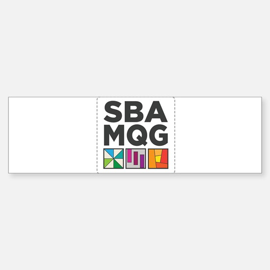 South Bay Area Modern Quilt Guild Logo Bumper Stic