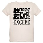 Rise, Surpass, Excel, Exceed Organic Kids T-Shirt
