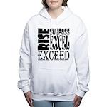 Rise, Surpass, Excel, Ex Women's Hooded Sweatshirt