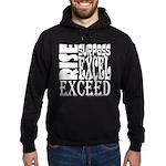 Rise, Surpass, Excel, Exceed Hoodie (dark)
