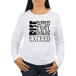 Rise, Surpass, Excel, Women's Long Sleeve T-Shirt