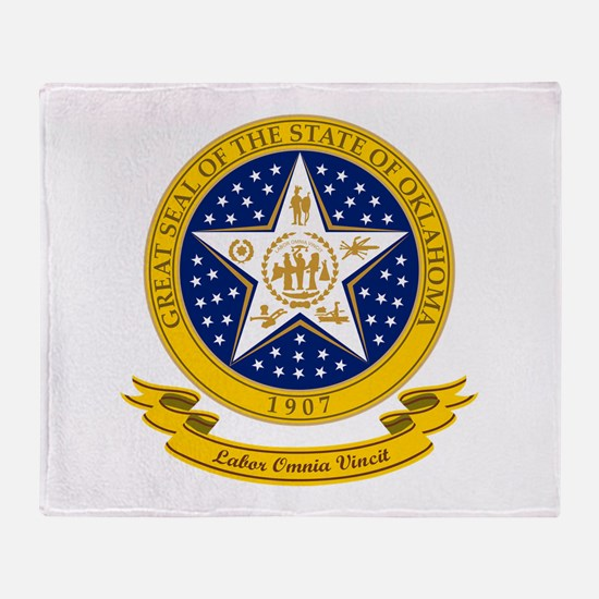 Oklahoma Seal Throw Blanket