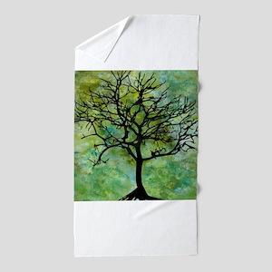 Watercolor Tree Beach Towel
