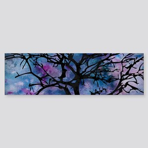 Watercolor Tree Bumper Sticker