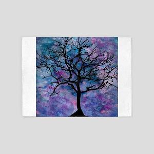 Watercolor Tree 5'x7'Area Rug