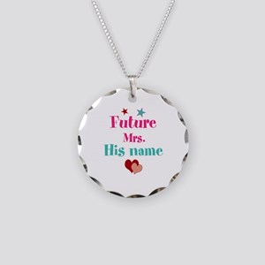 Personalize Future Mrs,___ Necklace Circle Charm