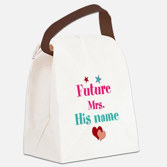 Personalize Future Mrs,___ Canvas Lunch Bag