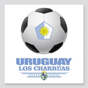 "Uruguay Football Square Car Magnet 3"" x 3"""
