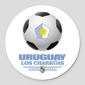 Uruguay Football Round Car Magnet