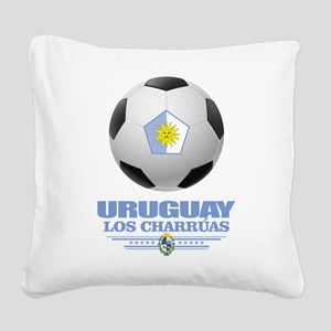 Uruguay Football Square Canvas Pillow