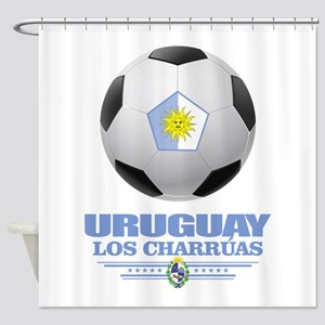 Uruguay Football Shower Curtain