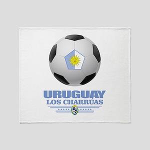 Uruguay Football Throw Blanket