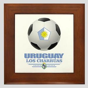 Uruguay Football Framed Tile