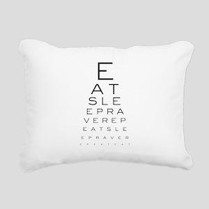 Eat Sleep Rave Repeat Ey Rectangular Canvas Pillow