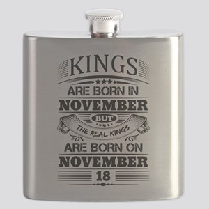 Real Kings Are Born On November 18 Flask