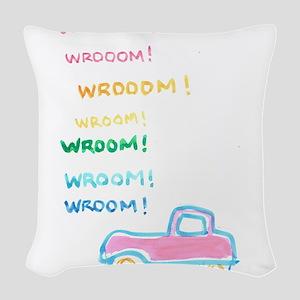 WROOOM...! Woven Throw Pillow