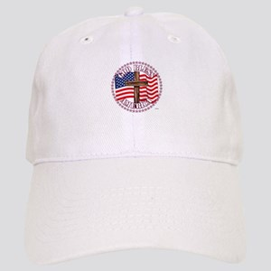 God Bless America and Cross With USA Flag - 50 Sta