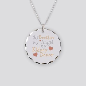 Personalize Kidney Donor Necklace Circle Charm
