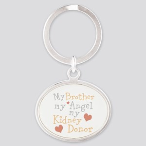 Personalize Kidney Donor Oval Keychain