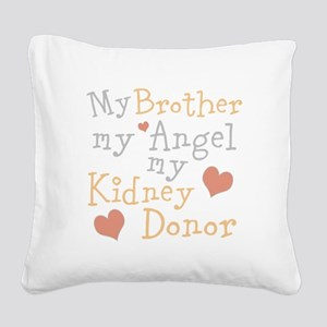 Personalize Kidney Donor Square Canvas Pillow