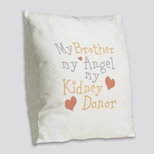 Personalize Kidney Donor Burlap Throw Pillow