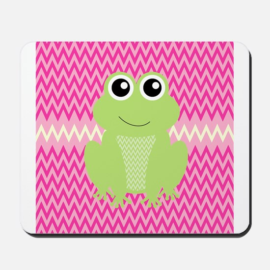 Cute Frog on Pink Mousepad