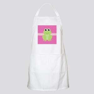 Cute Frog on Pink Apron