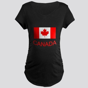 Canada flag and country name. Canada Day. Maternit