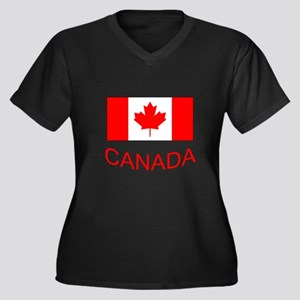 Canada flag and country name. Canada Day. Plus Siz