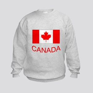 Canada flag and country name. Canada Day. Jumpers