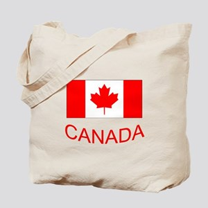 Canada flag and country name. Canada Day. Tote Bag