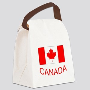 Canada flag and country name. Canada Day. Canvas L