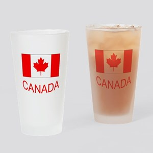 Canada flag and country name. Canada Day. Drinking