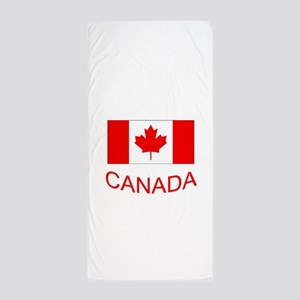 Canada flag and country name. Canada Day. Beach To