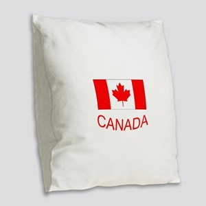 Canada flag and country name. Canada Day. Burlap T