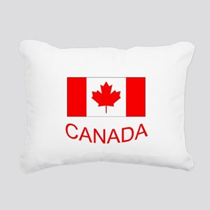 Canada flag and country name. Canada Day. Rectangu