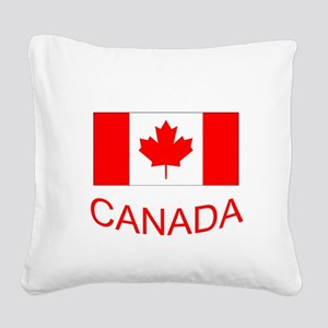 Canada flag and country name. Canada Day. Square C