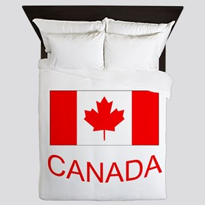 Canada flag and country name. Canada Day. Queen Du