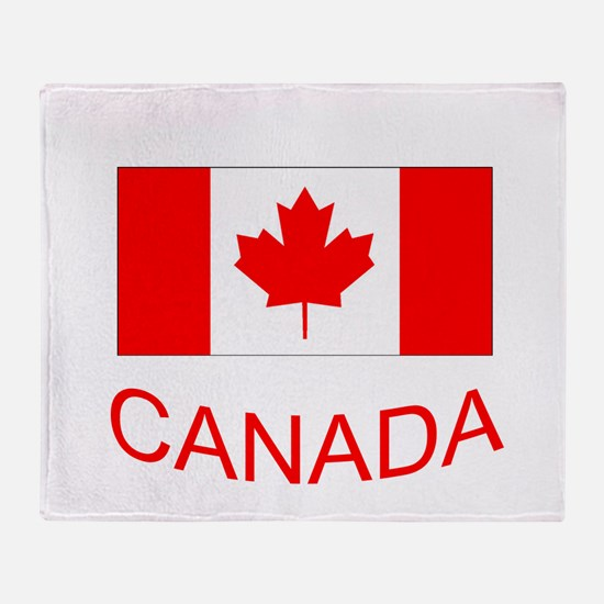 Canada flag and country name. Canada Day. Throw Bl