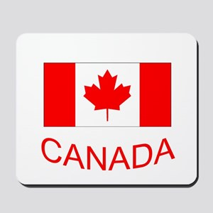 Canada flag and country name. Canada Day. Mousepad