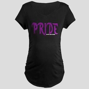 Pride Logo Maternity Dark T-Shirt