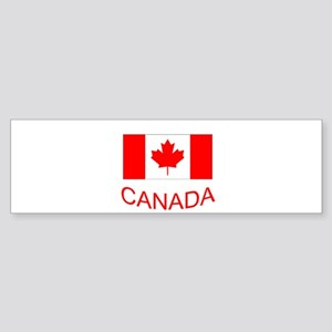Canada flag and country name. Canada Day. Bumper S