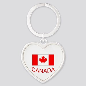 Canada flag and country name. Canada Day. Keychain