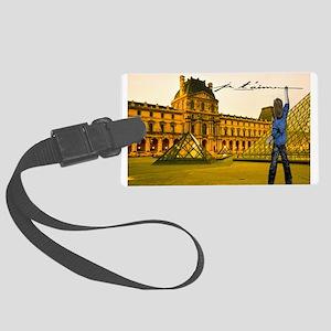 Paris Louvre Je Taime Luggage Tag