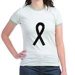 Black Ribbon Jr. Ringer T-Shirt