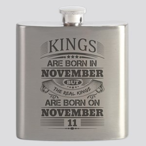 Real Kings Are Born On November 11 Flask