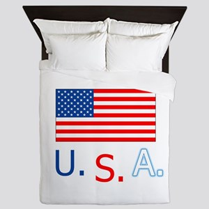 USA flag and country name. Independance Day. July