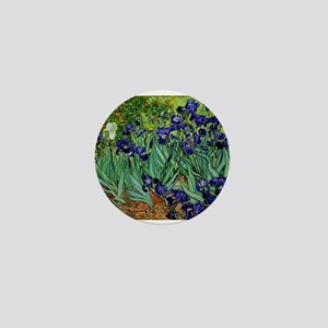 van gogh irises, st. remy Mini Button