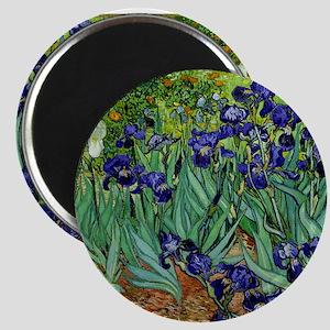 van gogh irises, st. remy Magnets